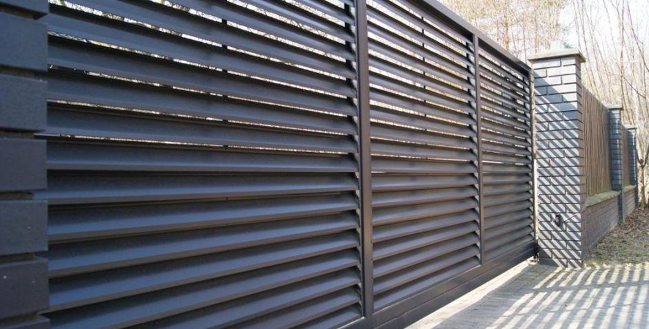 Horisontella Aluzinc staket