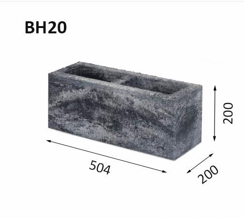 Mur av block BH20