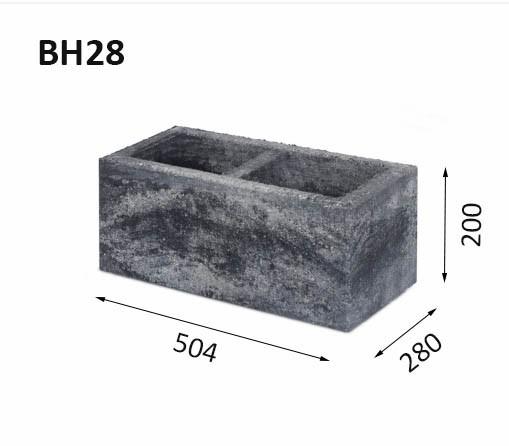 Mur av block BH28