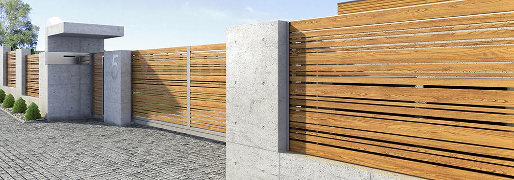 moderna stil staket
