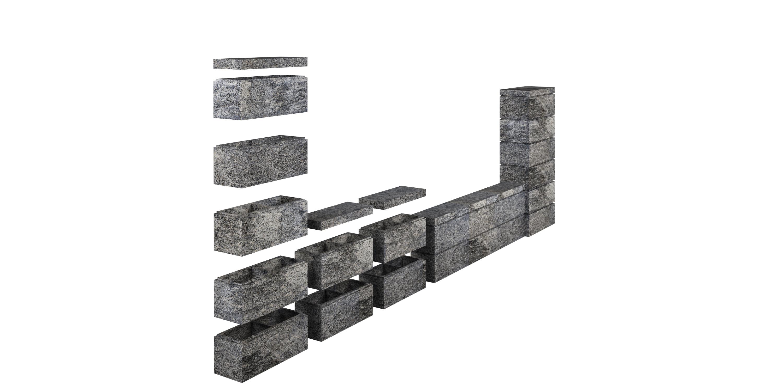 Mur av block RO Horizon