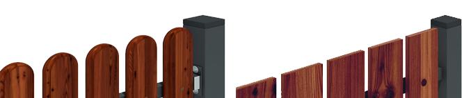 stängsel paneler av trä Thermowood