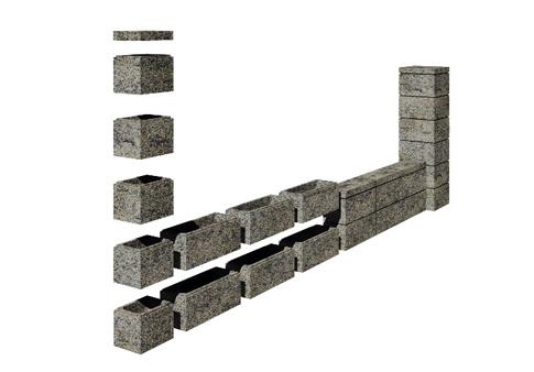 stöngsel av betong