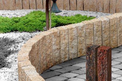 Mursten av betong, granit