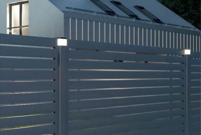 Staket stolpe med LED