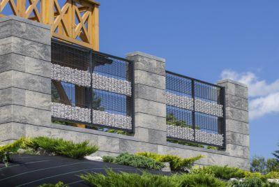 Staket murblock av betong