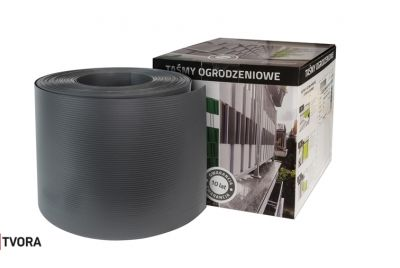 190mm grå stängselband PP 700 gr/m²