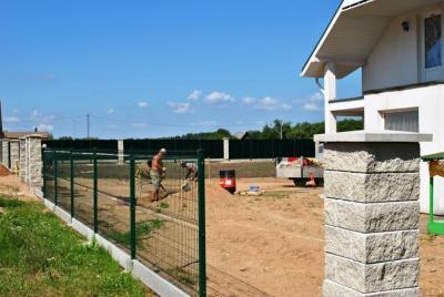 Betong sockel för staket